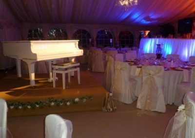 White Grand Hire For Wedding